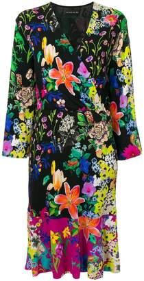 Etro floral print wrap dress