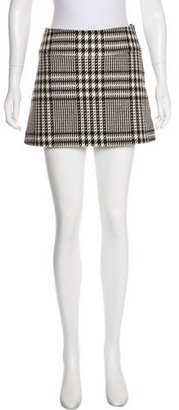 Burberry Wool Houndstooth Skirt