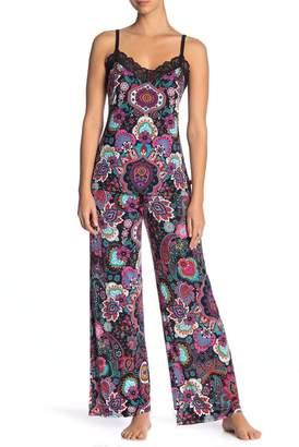 Josie Paisley Print Pants Pajama 2-Piece Set