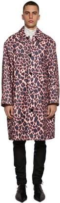 Calvin Klein Printed Stretch Cotton Denim Coat