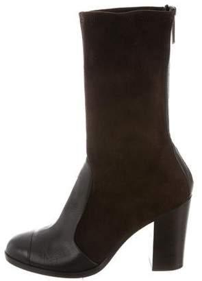 Chanel Cap-Toe Mid-Calf Boots