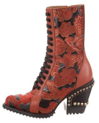 Chloé 2018 Embroidered Rylee High-Heel Boots