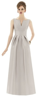 Alfred Sung - D655 Bridesmaid Dress in Oyster $242 thestylecure.com