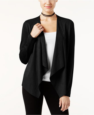 INC International Concepts Faux-Suede Draped Cardigan, Only at Macy's $69.50 thestylecure.com