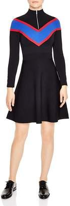 Sandro Timi Chevron A-Line Dress $395 thestylecure.com