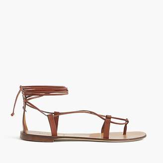Leather lace-up sandals $88 thestylecure.com