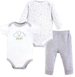 Hudson Baby Bodysuits and Pant 3pc Set (Baby Boys and Girls)