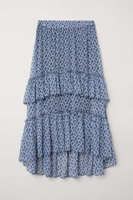 H&M Patterned Maxi Skirt - Blue