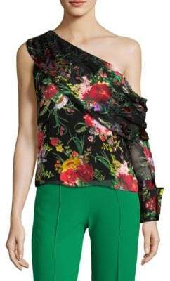 Alice + Olivia Serita One-Shoulder Top