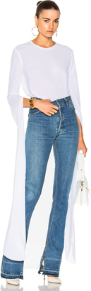 Norma Kamali Ribbon Sleeve Top $375 thestylecure.com