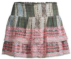Ramy Brook Women's Odessa Embroidered Skirt - Grey White - Size XS
