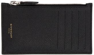Givenchy Black Zippered Card Holder