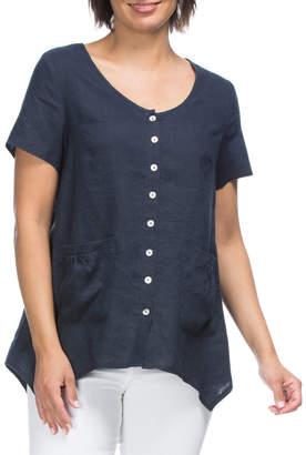 Pocket Detail Linen Shirt