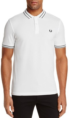 Fred Perry Tramline Tipped Piqué Regular Fit Polo Shirt $95 thestylecure.com