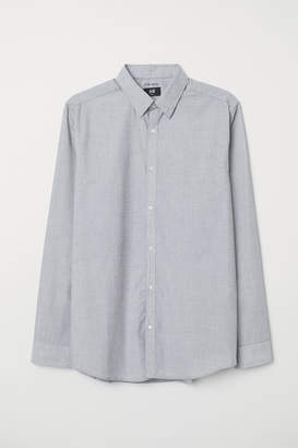 H&M Easy-iron Shirt Slim fit - Gray