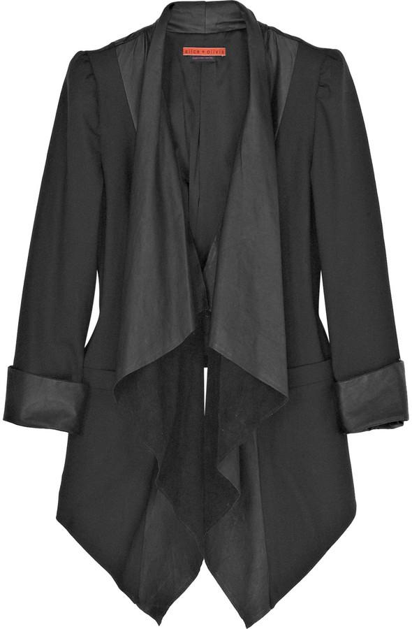 Alice + Olivia Cascade wool-blend blazer