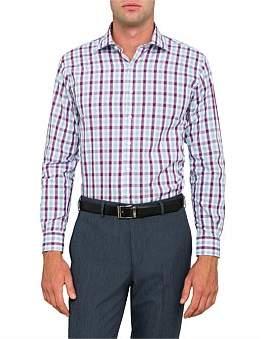 Van Heusen Dobby Check Euro Fit Shirt