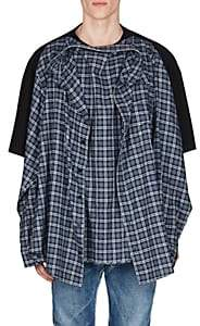 Balenciaga Men's Cotton Oversized Combo T-Shirt - Lt. Blue