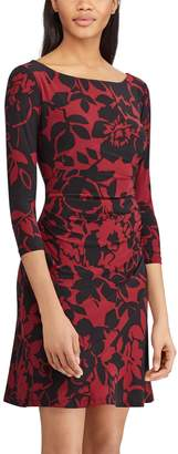 Chaps Petite Floral Fit & Flare Dress