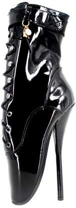 "Wonderheel 7"" Stilleto Heel Ankle Ballet Shoes Sexy Fetish lace up Ballet Boots"
