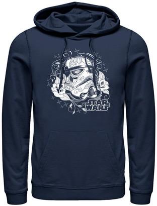 Men's Star Wars Storm Trooper Sugar Skull Pull-Over Hoodie