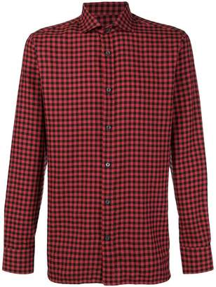 Ermenegildo Zegna checked pattern shirt