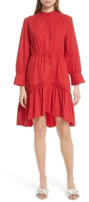 Women's Saloni Billie Cotton Dress $395 thestylecure.com