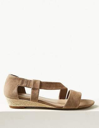 Marks and Spencer Suede Asymetric Wedge Sandals