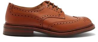 Tricker's Bourton Perforated Leather Brogues - Mens - Camel