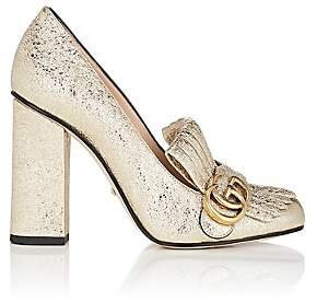 Gucci Women's Marmont Metallic Leather Pumps - Gold