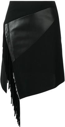 Barbara Bui side fringe fitted skirt