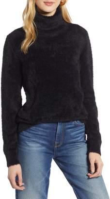 Halogen Fuzzy Turtleneck Pullover