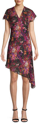 Anna Sui Butterflies & Bells Asymmetric Wrap Dress