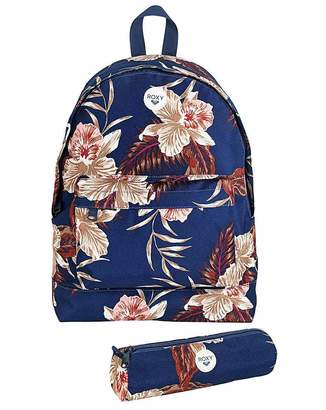 Roxy Floral Backpack and Pencil Case