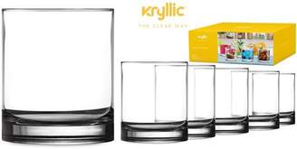 clear Kryllic Plastic Tumbler Cups Drinking Glasses - Acrylic Highball Tumblers Set of 6 14 oz Unbreakable Reusable Kitchen Drinkware Dishwasher Safe Bpa Free Hard Rocks Glass Drink Cup for Wine Water Juice