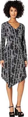 Nicole Miller Women's Painted Herringbone Asymmetrical Dress