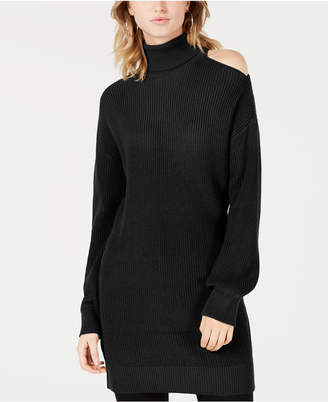 Bar III Cold-Shoulder Sweater Tunic
