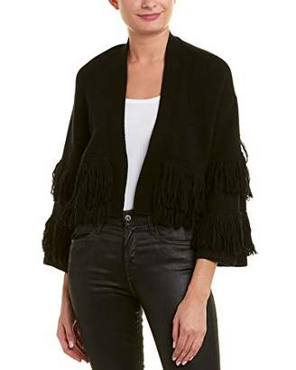BCBGMAXAZRIA Women's Fringe-Trimmed Cropped Cardigan