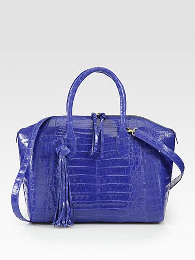 Nancy Gonzalez Crocodile Skin Top-Handle Bowler Bag