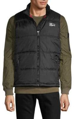Buffalo David Bitton Quilted Logo Vest