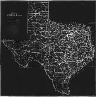 PTM Images Texas Map Canvas