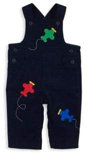 Florence Eiseman Baby Boy's Velvet Embroidered Overalls