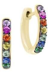 Effy 14K Yellow Gold & Multi-Color Sapphire Earrings