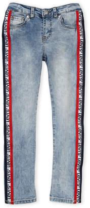 Levi's Girls 7-16) Track Stripe Logo Ankle Girlfriend Jeans
