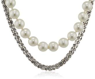 Kenneth Jay Lane Women's 10 ct Gold Plated Pearl Hourglass Beads Necklace of Length 45.72 cm AW4v0sYL
