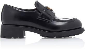 Prada Leather Platform Loafers