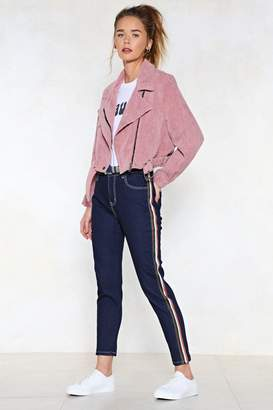 Nasty Gal On Our Side Striped Jeans
