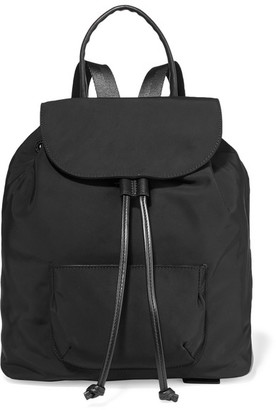 Elizabeth and James - Langley Leather-trimmed Shell Backpack - Black $395 thestylecure.com