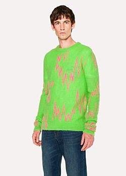 Paul Smith + The Chemical Brothers For Hingston Studio - Green 'Born In The Echoes' Sweater