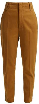 Etoile Isabel Marant Dysart High Rise Cotton Chino Trousers - Womens - Camel